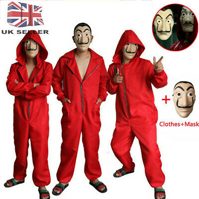Salvador Dali Money Heist The House of Paper La Casa De Papel Costume+Mask UK