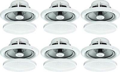 """6X 5"""" 80W Moisture Resistant Ceiling Speakers For Bathroom Or Kitchen B402 B"""