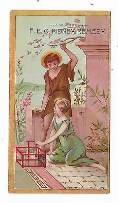 Quack Medicine Trade Card F.E.C. Kidney Remedy Wilbur Post Druggist Catskill NY