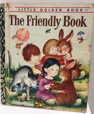 Little Golden Book  LGB   HC FREE POST THE FRIENDLY BOOK M W BROWN 1974  #372