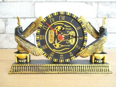 Isis with Clock Egypt Mythology Queen 7 7/8in Polyresin Decor Model