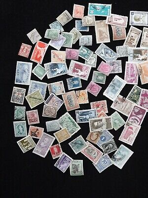 stamp collection from old album many mint and used