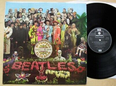 Beatles Sgt Peppers Lonely Hearts Club Band Lp G/Fold Cover  Black & Silver Labe