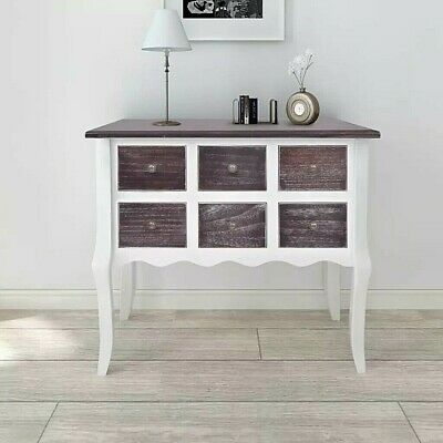 Vintage Chest of Drawers Antique Style Console Table Dresser Accent Entryway
