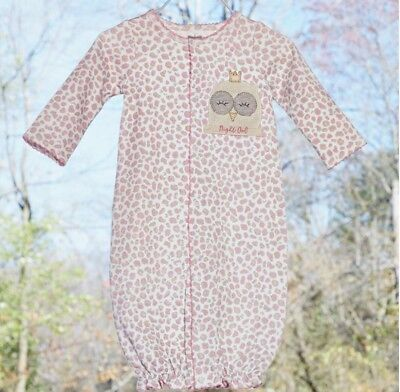 Mud Pie Pink Layette Take Me Home Bamboo Convertible Sleep Gown Shower Gift!