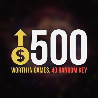x40 Random Steam Key Premium Games (+$500) Global Delivery Fast (Region-Free)