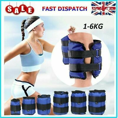 Leg Wrist Ankle Weights Exercise Fitness Stength Training Running 1/2/3/4/5/6KG