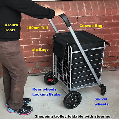 Shopping Trolley fold-able with steering heavy Duty - New in Box.