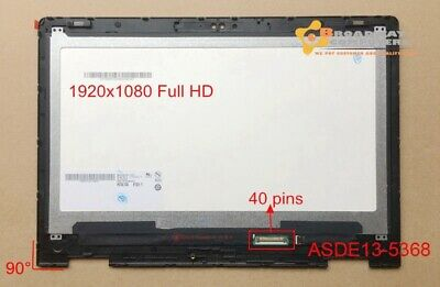"""13.3"""" LCD Screen Touch Assembly Dell Inspiron 13 5368 5378 P69G001 Square Edge"""