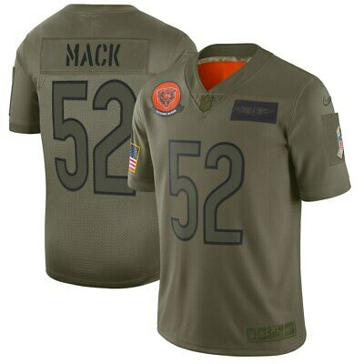 Men's Chicago Bears Khalil Mack Camo 2019 Salute to Service Limited Jersey