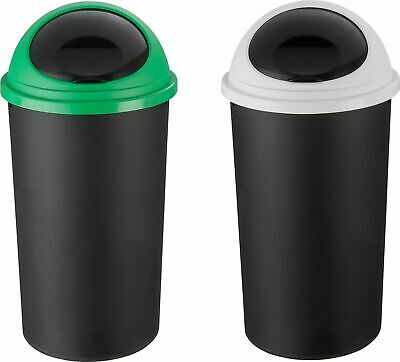 HOME 25 Litre Removable Lid Recycle Bin Twin Set