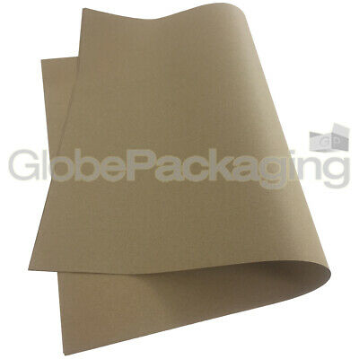 5 x BROWN KRAFT WRAPPING PAPER SHEETS 500x750mm, 88gsm - 100% RECYCLED *OFFER*