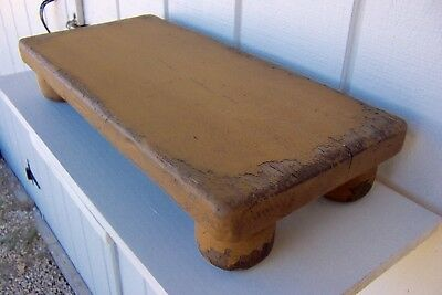 Primitive Rustic Painted Pine Country Farm Table Top Riser Farmhouse Benches