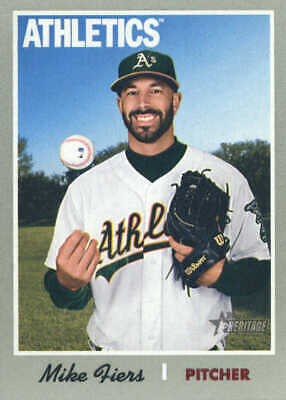 2019 Topps Heritage Baseball #287 Mike Fiers Oakland Athletics