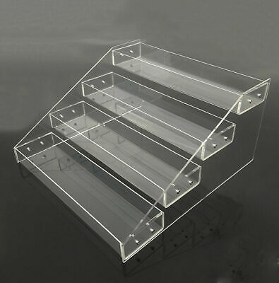 """FIG-DSW: Clear Acrylic 4 Tier Display Shelf for 6"""" to 10"""" Action Figures"""