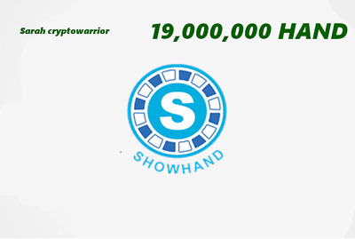 19 Million ShowHand (HAND) MINING-CONTRACT (18 Million HAND) Crypto Currency