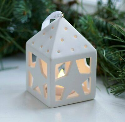 Sirius JANET White LED LIGHT HOUSE with STARS Home Decoration 10cm