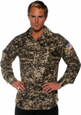 Army Lace Front Shirt Soldier Halloween Costume Top Accessory Adult Men