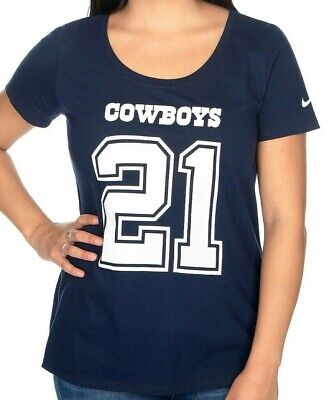 New Dallas Cowboys Nike navy women's large L Ezekiel Elliott jersey style shirt