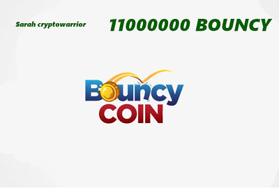 11,000,000 (11 Million) BouncyCoin (BOUNCY) MINING CONTRACT, Crypto Currency