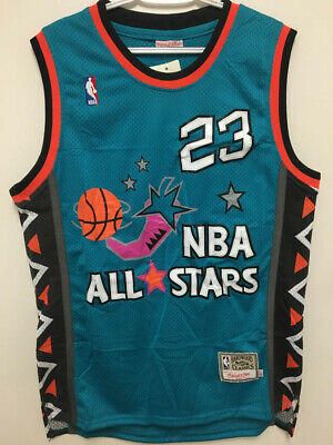 NWT Michael Jordan #23 1996 All Star TEAL Men's Throwback Stitched Jersey