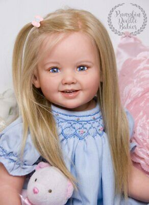 Custom Order Cammi by Ping Lau Reborn Doll Baby Girl or Boy Toddler Human Hair