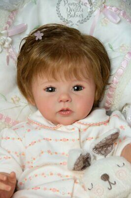 Custom Order Raven by Ping Lau Reborn doll baby girl or boy human hair or mohair