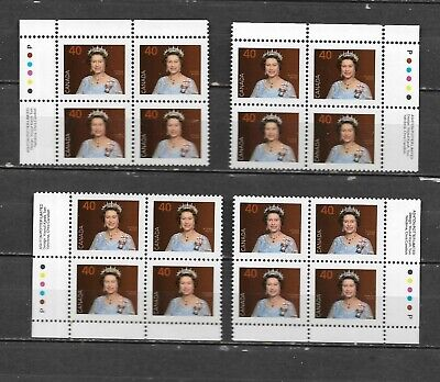 pk46279:Stamps-Canada #1168 Queen Elizabeth 40 cent Plate Block Set - MNH