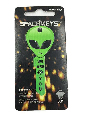 Green ALIEN HEAD House Key   Schlage Locks Only   SC1