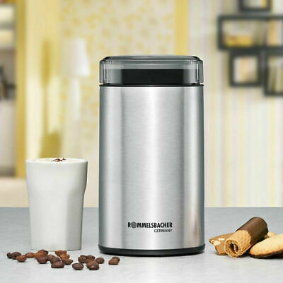Rommelsbacher EKM 100 Electric Coffee Grinder with striking Knife Stainless Stee