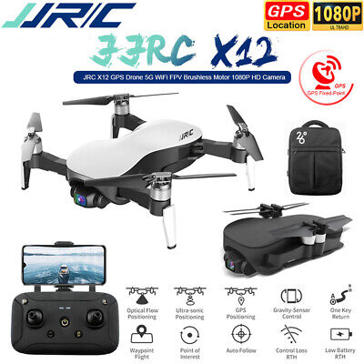JJRC X12 GPS Drone With 5G WIFI FPV 1080P HD Camera Brushless RC Quadcopter +Bag