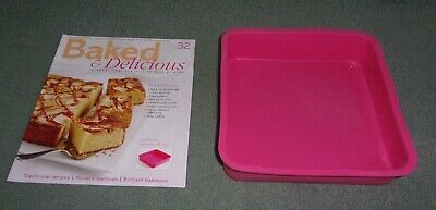 Baked & Delicious Magazine Issue 32 with Large Square Silicone Pan Accessory NEW