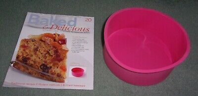 """Baked & Delicious Magazine Issue 20 with a 8"""" Deep Round Silicone Cake Pan NEW"""
