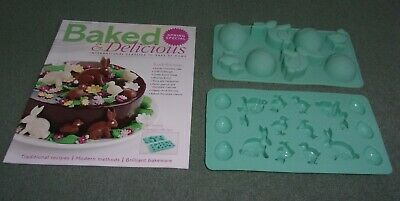 Baked & Delicious Magazine Spring Special with Silicone Easter Moulds Set NEW