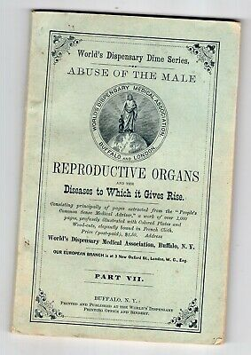 1885 World's Dispensary Treatment of Male Reproductive Organs Diseases
