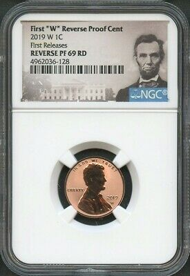 "2019 W First ""W"" REVERSE Proof Cent FIRST RELEASES NGC 69 RD LINCOLN Label"