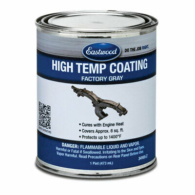 Eastwood High Temperature Resistant Factory Gray Coating Paint 1 Pint