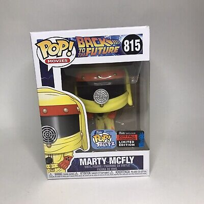 Funko Pop Back To The Future Marty Mcfly Nycc 2019 Shared Exclusive W Protector