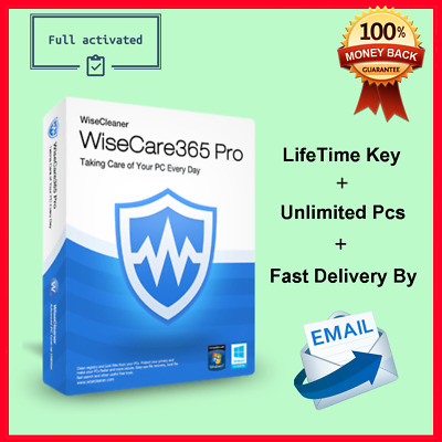 Wise Care 365 : PC Cleaning and Speed up Tool LifeTime License Instant Delivery