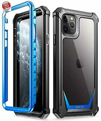 iPhone 11 Pro Max Rugged Case Built In Screen Protector Hybrid Shockproof Bumper