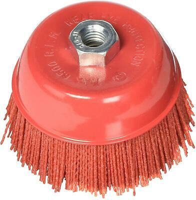 """6"""" Cup Brush Abrasive Nylon Bristle Truck Bed Prep Paint Stripping Fit 180 Grit"""