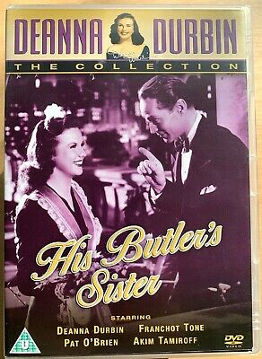 His Butler Sister DVD 1943 Deanna Durbin Hollywood Commedia Classico