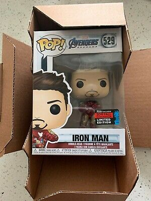 OFFICIAL NYCC 2019 FUNKO POP! AVENGERS ENDGAME TONY STARK IRON MAN w/ GAUNTLET