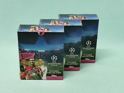 Topps Champions League Sticker 2019/2020 3 x Display / 90 Tüten 19/20