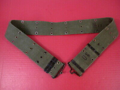 "Vietnam US Army/USMC M1956 Canvas Pistol Web Belt Medium Waist 36"" 2nd Pat 1963"