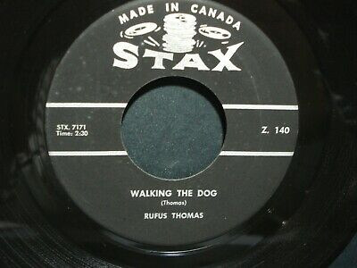 RUFUS THOMAS 45 ON 1962 STAX / Walking The Dog / Fine & Mellow 1962 LIKE NEW