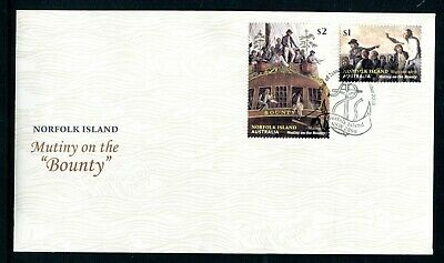 2019 Norfolk Island Mutiny on The Bounty (Gummed Stamps) FDC