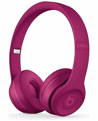 Beats by Dre Solo 3 On-Ear Wireless Bluetooth Foldable Headphones - Brick Red