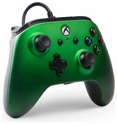 Enhanced Wired Controller for Microsoft Xbox One - Emerald Fade