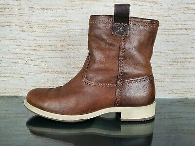 ECCO Womens Norwood 20mm Pull On Ankle Western Boots Size 41 EU 10 US